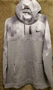 Nike Men's Big&Tall Therma DriFit Training Pullover Hoodie Grey  CU7829-063 4XLT