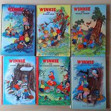 Winkie by Willy Schermele x 6 Vintage Woodland Picture Books H/C