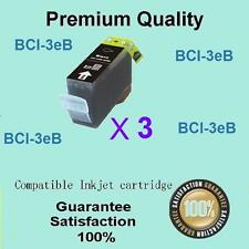 3 X Compatible Canon BCI-3ebk Black ink Pixma ip4000 ip5000 MP780 MP760