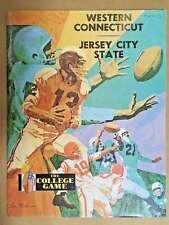 JERSEY CITY STATE @ WESTERN (CT) COLLEGE FOOTBALL PROGRAM - 1971 - EX