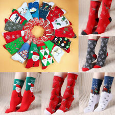 Unisex Men Women Christmas Socks Santa Claus Deer Warm Winter Xmas Funny Gift