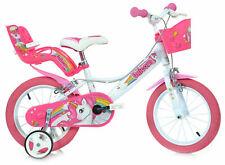 """Dino Bikes Unicorn 16"""" Bicicletta per Bambina - Rossa (164R-UN)"""