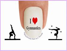 Nail Art #3083 SPORTS I Love Gymnastics #3 WaterSlide Nail Decals Transfers
