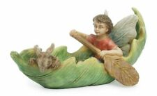 Canoeing With Friends Leaf Green 4 x 2 Resin Stone Collectible Figurine