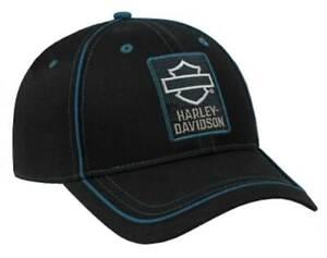 Harley-Davidson Men's Insignia Embroidered B&S Logo Snapback Baseball Cap, Black