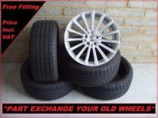 """4x Genuine Borbet BLX 18"""" Alloy Wheels & Tyres BMW 5 Series E60 E61"""