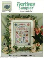 Teatime Sampler Linda Bird Design Connection #069 Cross Stitch Pattern NEW