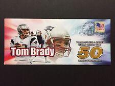 TOM BRADY SINGLE SEASON 50 PASSING TOUCHDOWNS RECORD PATRIOTS NFL EVENT COVER