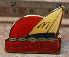 McDonalds Lake Sarene Sailboat Washington USA Collectible Pinback Pin Button