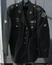 U S Military Surplus Coat 2001 enlisted green uniform  Specialist  4th ID