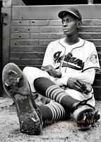 Satchel Paige PHOTO Cleveland Indians Team Star Negro League Baseball