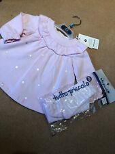 Tutto Piccolo Dress & Matching Tights Age 6/9 Mths Bnwt