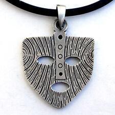 Asatru The Mask of Loki Norse Viking Asgard God Pewter Pendant W Black PVC Cord