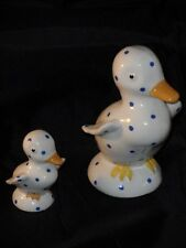 Plichta London (Weymss) Hand Painted Rare Cute Spotted Duck Figures One Damaged