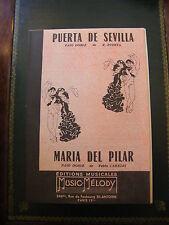 Partitura Puerta de Sevilla R Puerta Maria del Pilar Capitán Paso Doble