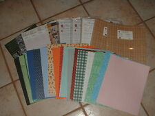 Lot 12 Creative Memories Photo Mounting/Paper Packs New & 266 Loose Sheets
