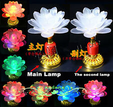 1 Sets (2 Pieces) Buddhist Pray Music Lamp Color Changed 13 Kind Buddhism Songs