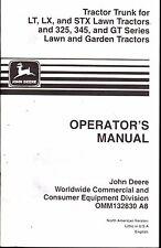 John Deere Tractor Trunk Lt, Lx, Stx Lawn Operators Manual Omm132830 A8 (405)