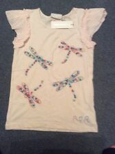 Girls Tshirt Pink With Embroidered Dragonflies Rocha John Rocha NWT