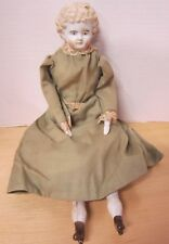 "14"" stone bisque girl in lovely vintage outfit"
