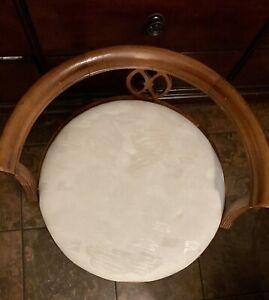 Vintage Wood Vanity Chair
