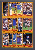 2002 Topps ATLANTA BRAVES Team Set (28) Cards