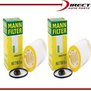 2 Pack Genuine OEM Mann Filter HU718/5x Oil Filter Fleece For Mercedes Benz