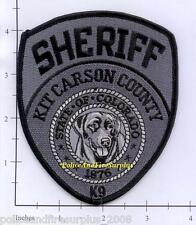 Colorado - Kit Carson Sheriff K-9 CO Police Dept Patch