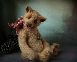 RARE One of a Kind Beautiful Rumbling Growler Artist Bear by Anzhelika Costin