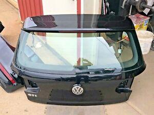 2013 OEM VW GTI MK6 HATCH TRUNK LIFT GATE W/ WIRING PAINT CODE: LC9X BLACK PEARL