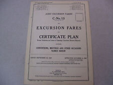 Sept. 25, 1924 Excursion Tariff Certificate Plan Conventions, Meetings, etc