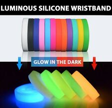 Glow In The Dark Fashion Silicone Rubber Wristband Glowing Bangle Charm Bracelet