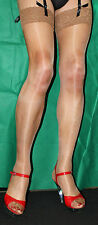 5 Pairs Just Tan 15 Denier Luxury Lace Top Large Size Satin Sheen Stockings