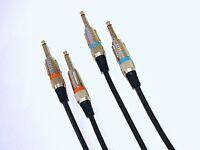 1,5m Instrumenten Kabel Gitarren Kabel OFC-Kupfer  2 Stück  je 1,5 m low noise