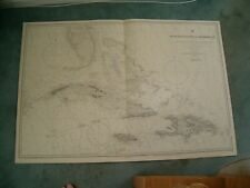 More details for vintage admiralty chart 761 west india islands & caribbean sea 1923 edn