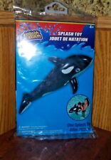 """48"""" Large  Shamu Orca Whale Black & White Inflatable Pool Toy Float Air up Blow"""