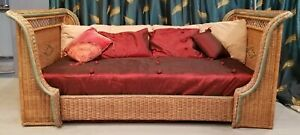 Vintage Hand-crafted Mid-Century Art Deco-style Twin Sleigh Bed