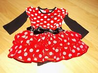 Size 12 Months Disney Baby Minnie Mouse One-Piece Costume Dress Tiered Ruffle