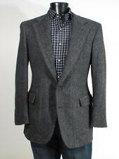 Polo Ralph Lauren Tweed Sport Coat Blazer 40 41R Charcoal Gray Herringbone