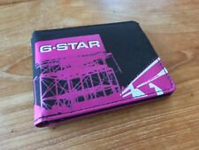 G-Star Urban Style Pink Black BiFold Wallet G Star SD Memory Card Slot - Super!