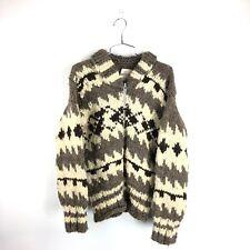 Vintage Heavy Wool Cowichan Indian Sweater Reg 5629 Hand Knitted Aztec Coat