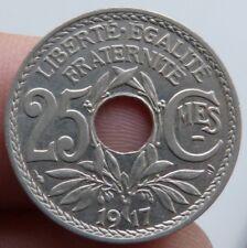 Rare et Superbe 25 centimes Lindauer 1917 souligné