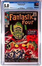 FANTASTIC FOUR #49 1ST APP GALACTUS & 2ND APP SILVER SURFER CGC 5.0 OW to W Page