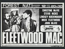 """Fleetwood Mac Belgian 16"""" x 12"""" Photo Repro Concert Poster"""