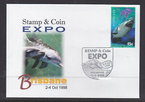 SOUVENIR COVER:  1998  BRISBANE STAMP & COIN  EXPO  DOLPHINES