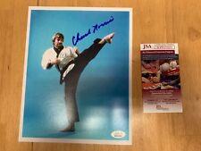 Chuck Norris Karate Autographed 8x10 Photo JSA Witness