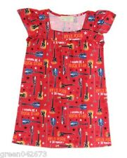 Girls Kids/Toddlers Red Rock Star Sleepdress/Nightdress Sleepwear, L (5-6 y/o)