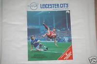 Leicester V Bradford Programa 21st Nov.1987