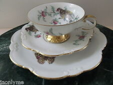 EBERTHAL Bavaria W. Germany Bird,Thistle,Butterfly cup/saucer/desert plate (D)