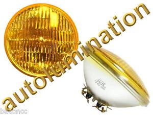 New 4012-a Amber 6 Volt Par46 Sealed Beam Headlight Bulb 4012a